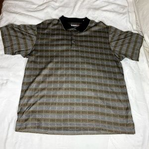 GRAND SLAM Plaids Polo Shirt Golf XL EUC